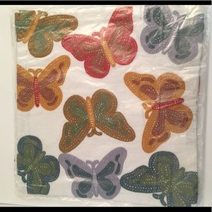 Embroidered Butterfly Pillow Cushion Slip Covers